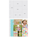 Simple Stories - SNAP Studio Collection - 12 x 12 Page Protectors - Two 4 x 6 Two 6 x 4 Two 3 x 4 One 2 x 12 Inch Photo Sleeves - 10 Pack