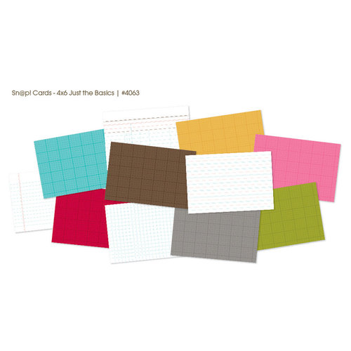 Simple Stories - SNAP Studio Collection - 4 x 6 Cards - Just the Basics