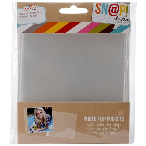 Simple Stories - SNAP Studio Collection - 4 x 4 Photo Flips - 12 Pack
