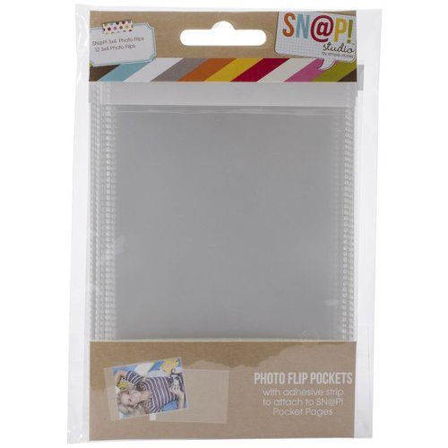 Simple Stories - SNAP Studio Collection - 3 x 4 Photo Flips - 12 Pack