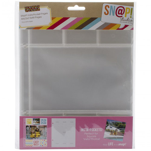 Simple Stories - SNAP Studio Collection - Insta Pocket Pages - 2 x 2 and 4 x 6 Page Protectors - 10 Pack