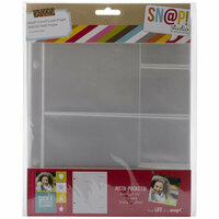 Simple Stories - SNAP Studio Collection - Insta Pocket Pages - 2 x 2 and 4 x 4 Page Protectors - 10 Pack