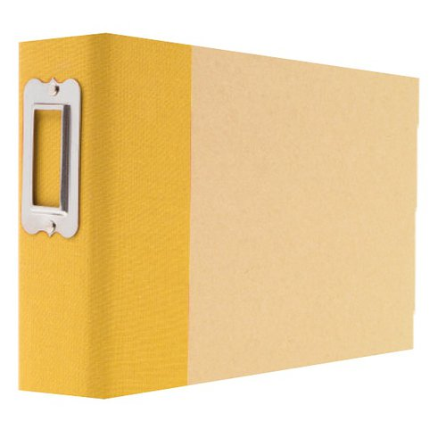 Simple Stories - SNAP Studio Collection - 4 x 6 Horizontal Binder - Yellow