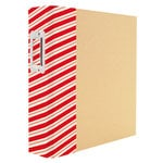 Simple Stories - SNAP Collection - Christmas - Binder - Striped Holiday