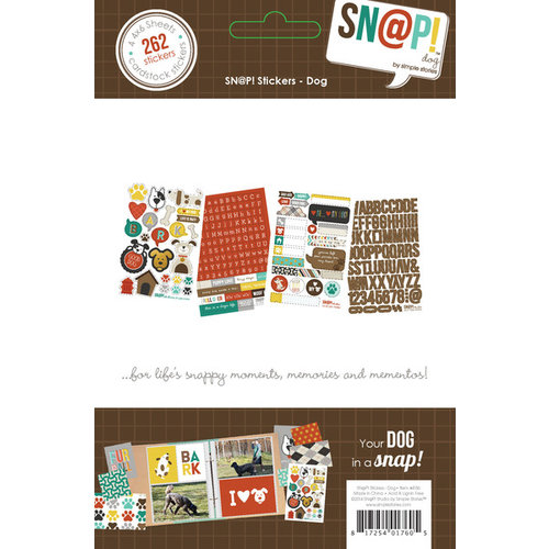 Simple Stories - SNAP Collection - Cardstock Stickers - Dog