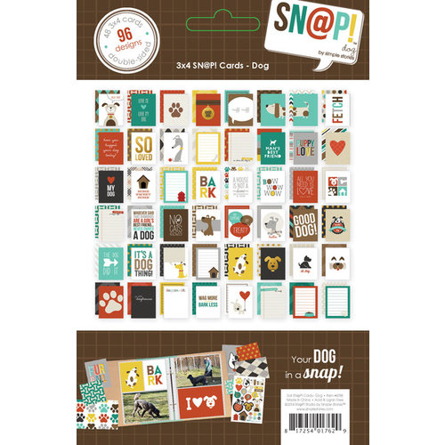 Simple Stories - SNAP Collection - 3 x 4 Cards - Dog