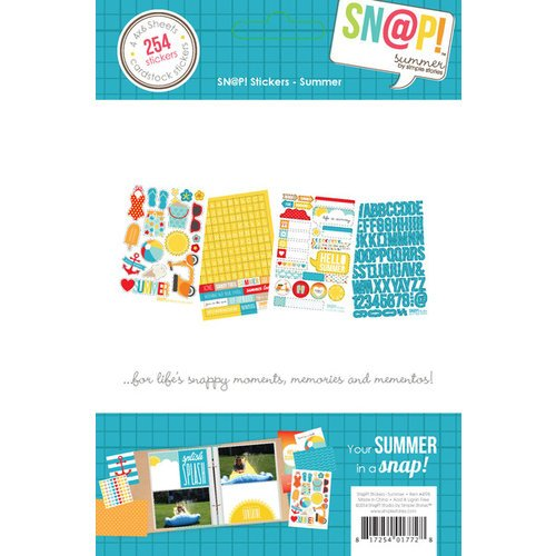Simple Stories - SNAP Collection - Cardstock Stickers - Summer
