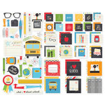 Simple Stories - SNAP Collection - Insta Squares and Pieces - School