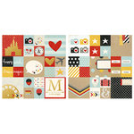Simple Stories - Say Cheese II Collection - 12 x 12 Double Sided Paper with Foil Accents - 2 x 2 and 4 x 4 Elements