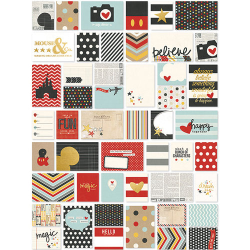 Simple Stories - SNAP Collection - 3 x 4 and 4 x 6 Cards with Foil Accents - Say Cheese II