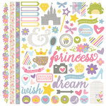 Simple Stories - Enchanted Collection - 12 x 12 Cardstock Stickers - Fundamentals