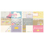 Simple Stories - Enchanted Collection - 12 x 12 Double Sided Paper with Foil Accents - 4 x 6 Horizontal Journaling Card Elements