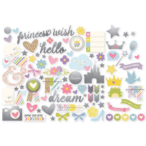 Simple Stories - Enchanted Collection - Bits and Pieces with Foil Accents