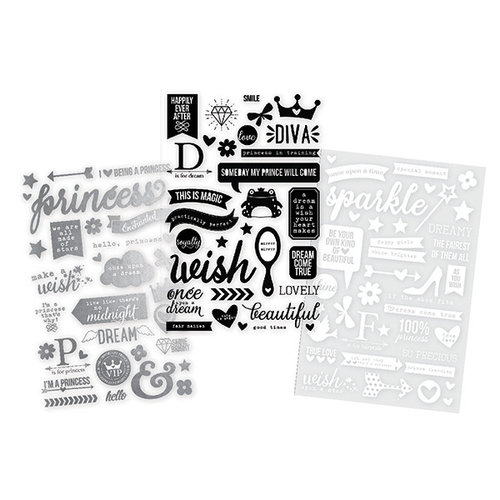 Simple Stories - Enchanted Collection - Clear Photo Stickers with Foil Accents