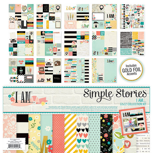 Simple Stories - I AM Collection - 12 x 12 Collection Kit
