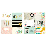 Simple Stories - I AM Collection - 12 x 12 Double Sided Paper - 4 x 6 Horizontal Journaling Card Elements