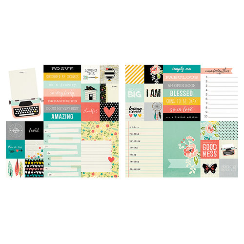 Simple Stories - I AM Collection - 12 x 12 Double Sided Paper - 2 x 2 and 4 x 6 Elements