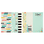 Simple Stories - I AM Collection - 12 x 12 Double Sided Paper - 2 x 12, 4 x 12 and 6 x 12 Elements