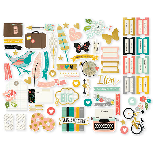 Simple Stories - I AM Collection - Bits and Pieces with Foil Accents