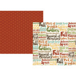 Simple Stories - Pumpkin Spice Collection - 12 x 12 Double Sided Paper - Harvest Memories