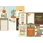 Simple Stories - Pumpkin Spice Collection - 12 x 12 Double Sided Paper - 4 x 6 Vertical Journaling Card Elements