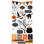 Simple Stories - Happy Haunting Collection - Halloween - Cardstock Stickers