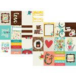 Simple Stories - We Are Family Collection - 12 x 12 Double Sided Paper - 3 x 4 Journaling Card Elements