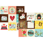 Simple Stories - We Are Family Collection - 12 x 12 Double Sided Paper - 4 x 4 Elements