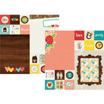 Simple Stories - We Are Family Collection - 12 x 12 Double Sided Paper - 2 x 2 and 6 x 8 Elements