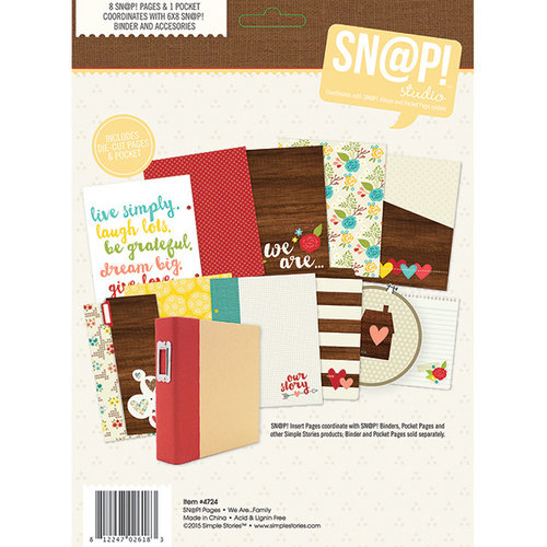 Simple Stories - SNAP Collection - 6 x 8 Journal Insert Pages - We Are Family