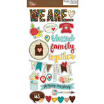 Simple Stories - We Are Family Collection - Chipboard Stickers