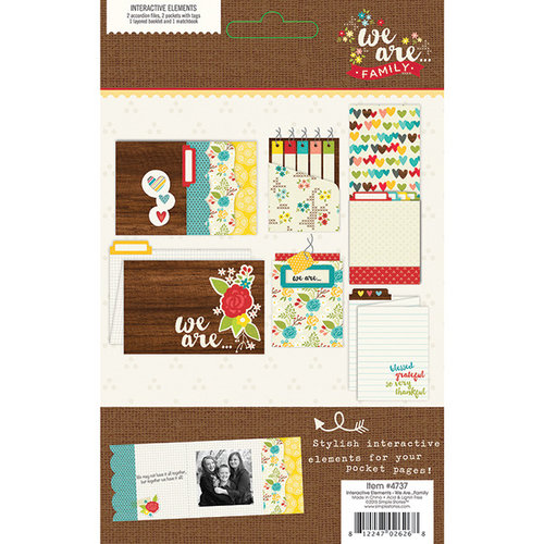 Simple Stories - We Are Family Collection - Interactive Elements