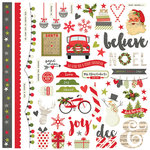 Simple Stories - Claus and Co Collection - Christmas - 12 x 12 Cardstock Stickers - Fundamentals