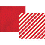 Simple Stories - Claus and Co Collection - Christmas - 12 x 12 Double Sided Paper - Red Stripes
