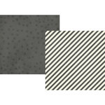 Simple Stories - Claus and Co Collection - Christmas - 12 x 12 Double Sided Paper - Charcoal Stripes
