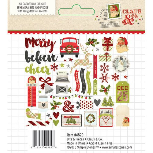 Simple Stories - Claus and Co Collection - Christmas - Bits and Pieces