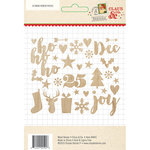 Simple Stories - Claus and Co Collection - Christmas - Wood Veneer Pieces