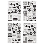 Simple Stories - SNAP Collection - Carpe Diem - Clear Stickers