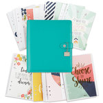 Simple Stories - Carpe Diem Collection - Posh - A5 Planner - Boxed Set - Aqua - Undated