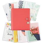 Simple Stories - Carpe Diem Collection - Posh - A5 Planner - Boxed Set - Coral