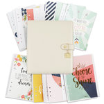 Simple Stories - Carpe Diem Collection - Posh - A5 Planner - Boxed Set - Ivory - Undated