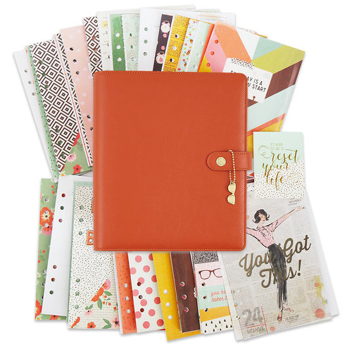 Simple Stories - Carpe Diem Collection - The Reset Girl - A5 Planner - Boxed Set - Persimmon - Undated