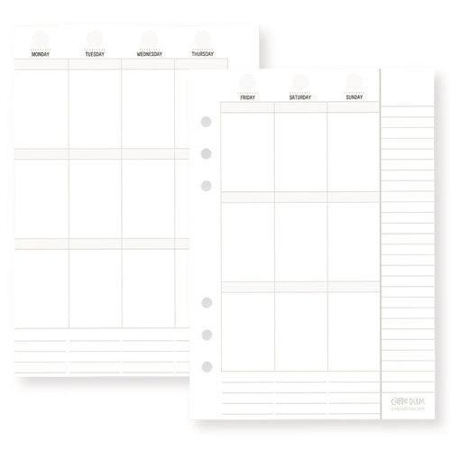 Simple Stories - Carpe Diem - Planner Essentials - Weekly Inserts - Vertical Format - Undated