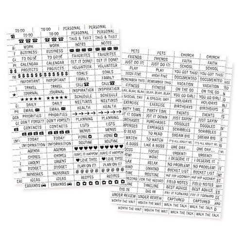 Carpe Diem - Planner Essentials - Clear Stickers - Labels