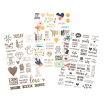 Simple Stories - Carpe Diem - Posh Collection - Clear Stickers