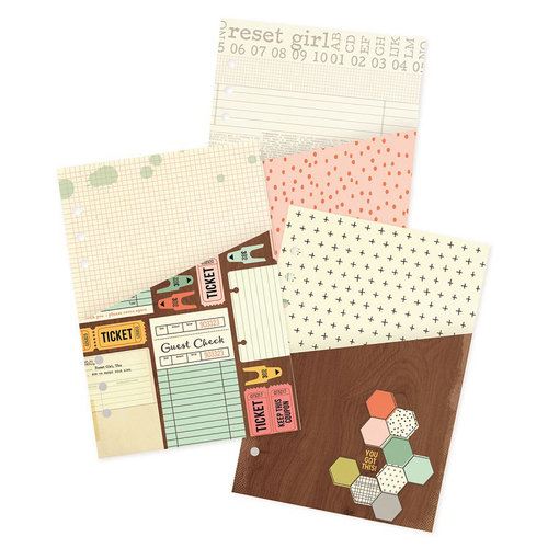 Simple Stories - Carpe Diem - The Reset Girl Collection - Pocket Inserts