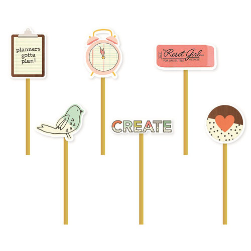 Simple Stories - Carpe Diem Collection - The Reset Girl - Decorative Clips