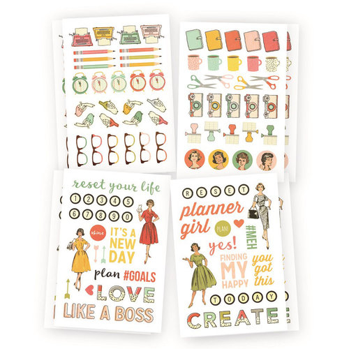 Carpe Diem - The Reset Girl Collection - Cardstock Stickers - Icons