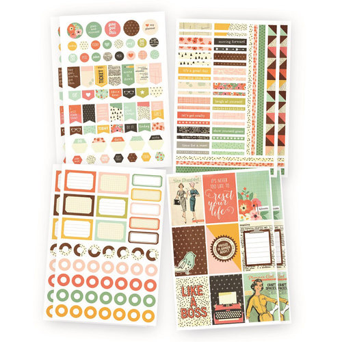 Simple Stories - Carpe Diem - The Reset Girl Collection - Cardstock Stickers - Planner Basics