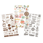 Simple Stories - Carpe Diem - The Reset Girl Collection - Clear Stickers